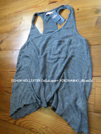 2014年4月  HOLLISTER Co(Point Vicente Drapey Knit Tank - GREY