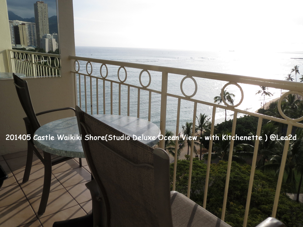 201405 Hawaii Condominium - Castle Waikiki Shore(Studio Deluxe Ocean View - with Kitchenette)