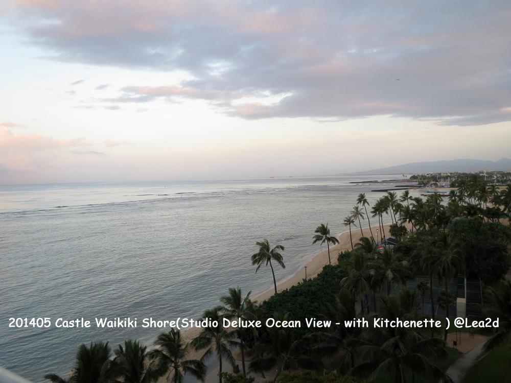 201405 Hawaii Condominium - Castle Waikiki Shore(Studio Deluxe Ocean View - with Kitchenette)