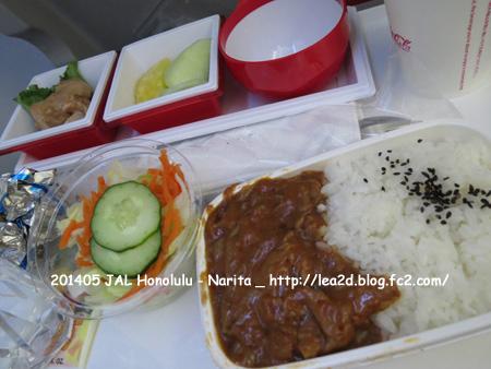 2014年5月 JALさんの機内食(ホノルルからの成田)