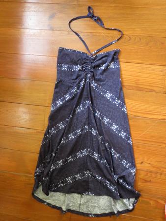 2014年8月 Kamala Skirt(カラマスカート)Shibori Stripe: Classic Navy
