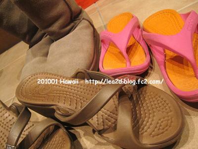 【2010年1月 ハワイに持参した靴】