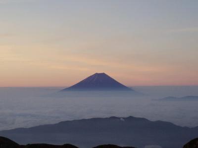 北岳からの富士山
