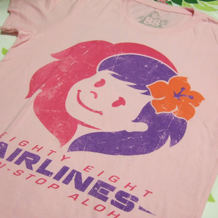 ハワイアン雑貨Locottsu-88tees レディースTシャツ air line
