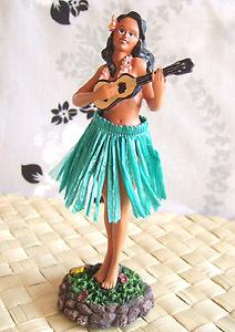 ハワイアン雑貨Locottsu-ダッシュボードドール ウクレレガール