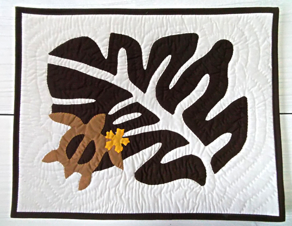 ハワイアン雑貨Locottsu-ハワイアンキルト ランチョンマット ブラウン