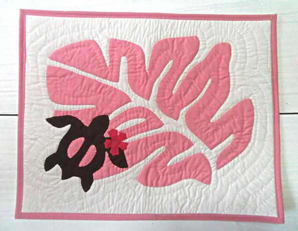 ハワイアン雑貨Locottsu-ハワイアンキルト ランチョンマット ピンク