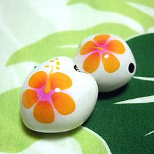 ハワイアン雑貨Locottsu-ペイントククイ イエローオレンジ/ホワイト
