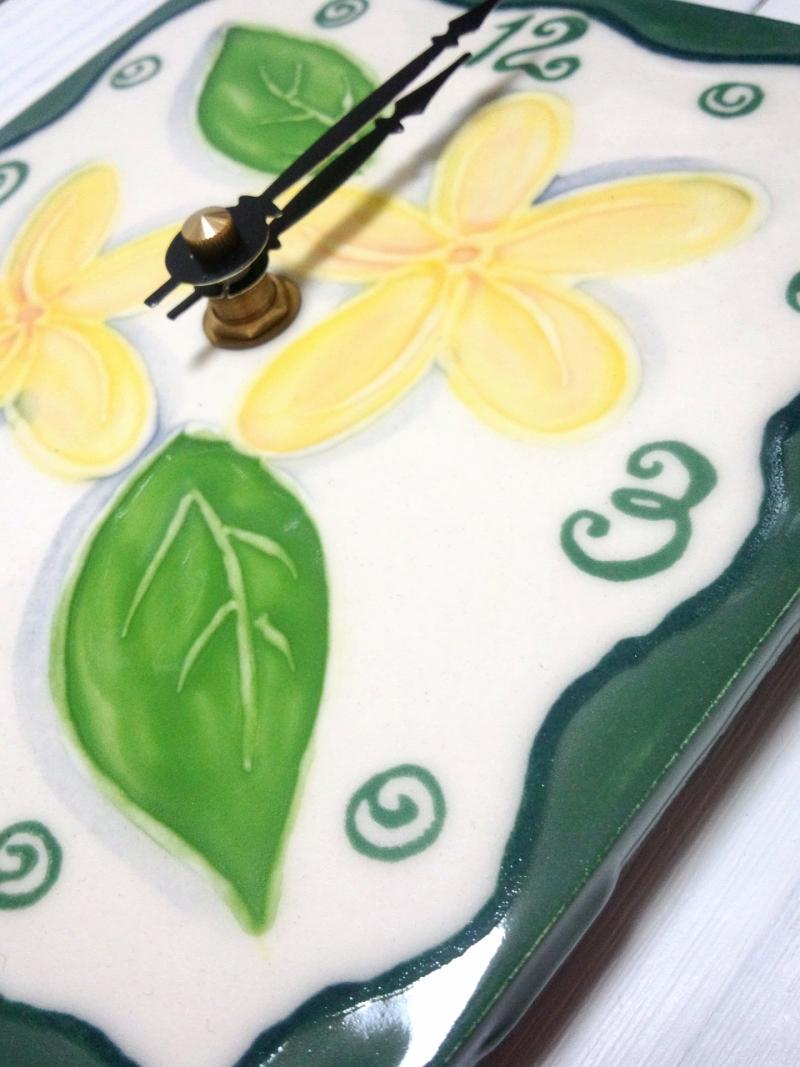 ハワイアンアートタイル時計