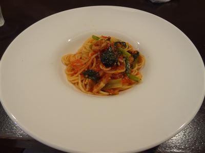 小松菜のパンチェッタ