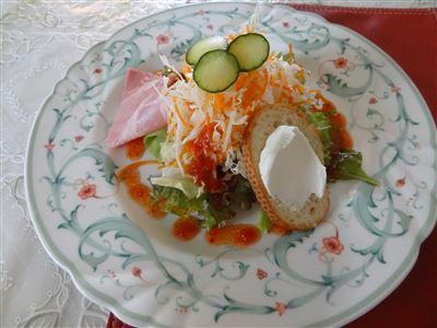 パスタランチの前菜サラダ