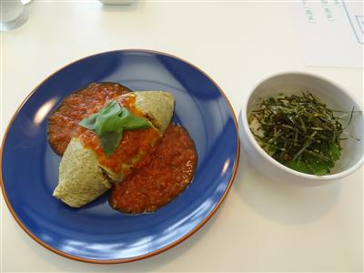 オムライスと明太子丼