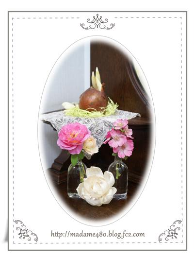 剪定バラを飾るweb用