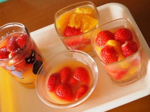 イチゴとオレンジのジュレってか、ゼリー