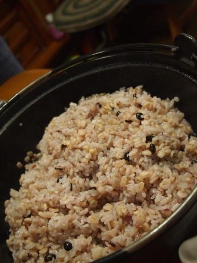 雑穀麦ごはんのチキンライス