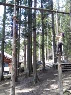 「ビッグホーンオートキャンプ場」木登り