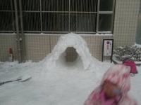 トンネル式かまくら作り