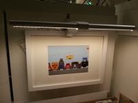 【DIYとインテリア生活】 IKEAのLEDアート照明「RIBBA(リッバ)」を電気スタンドとして使う♪