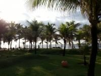 ブラジルのバイアのホテル部屋から見える海