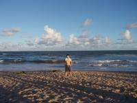 ブラジルのバイアで海水浴