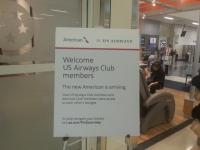ダラス・フォートワース国際空港のterminalDのUS AIRWAYS CLUB案内