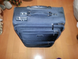 黒のスタンダードなTSAロック付きスーツケース