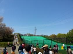 小金井公園のソリゲレンデ