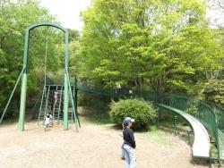みやま公園の児童広場の滑り台
