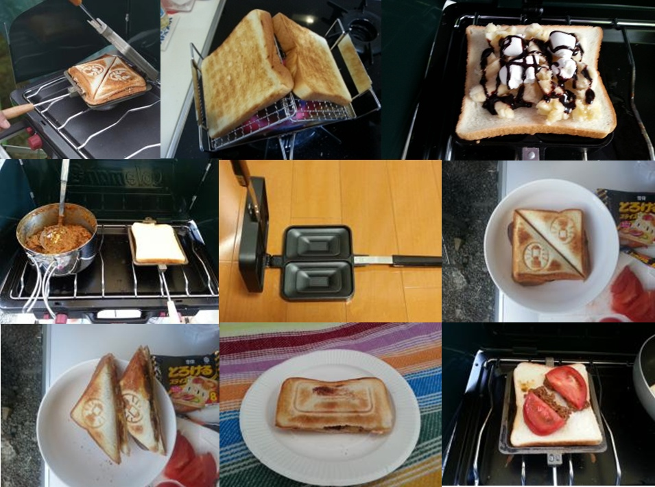 【キャンプ朝食特集】キャンプおすすめの朝食は「ホットサンド」でしょう♪
