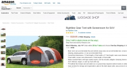 Rightline Gear Tent with Screenroom for SUV from amazon
