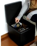 小型の腰掛(スツール) BOX Stool 収納