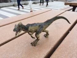 上野の国立科学博物館 恐竜おもちゃ