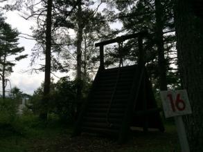 八峰の湯、松原湖高原キャンプ場のアスレチック