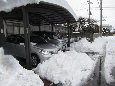 IMG_2194⑩ガレージ前の雪