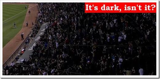Whitesox stadium dark