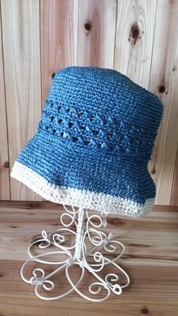 透かし模様の帽子(198-3)
