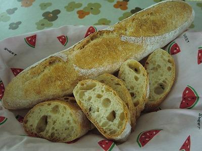 フランスパン再び