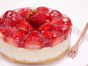 いちごのレアチーズケーキ2