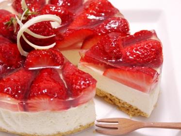 いちごのレアチーズケーキ4