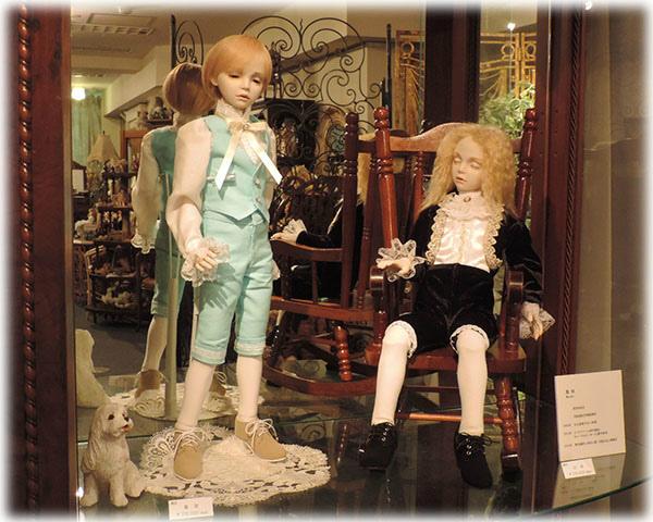 星夜・白夜(少年人形) 銀座人形館 新人展