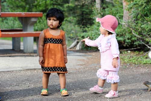 インド人と娘