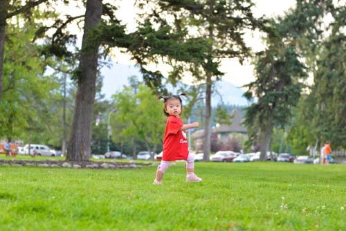 走る1.2歳児