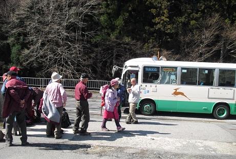 3 長谷バス停・下車