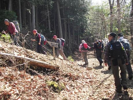6 栃ケ山へ向かう・直登ルート