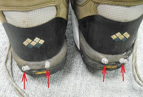 2 軽登山靴の改造