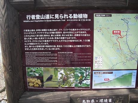7 下山中の行者登山道の標識