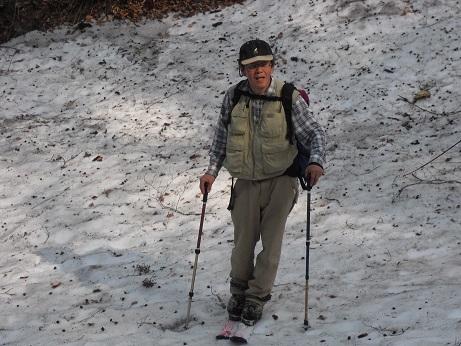 10 行者谷と登山道の交差点