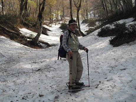 11 行者谷と登山道の交差点