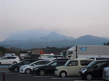 1 米子自動車の蒜山高原SAから雲の大山