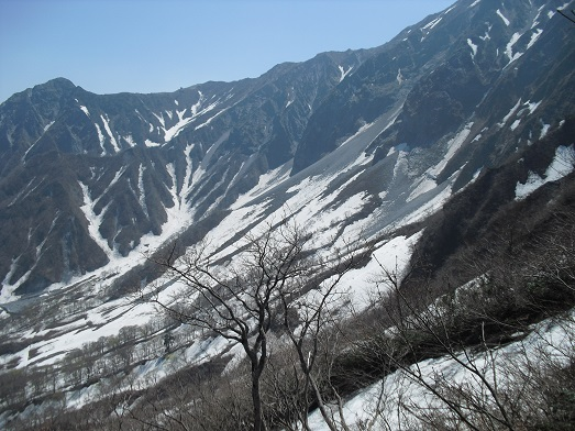 8 夏山登山道6合目から元谷方面